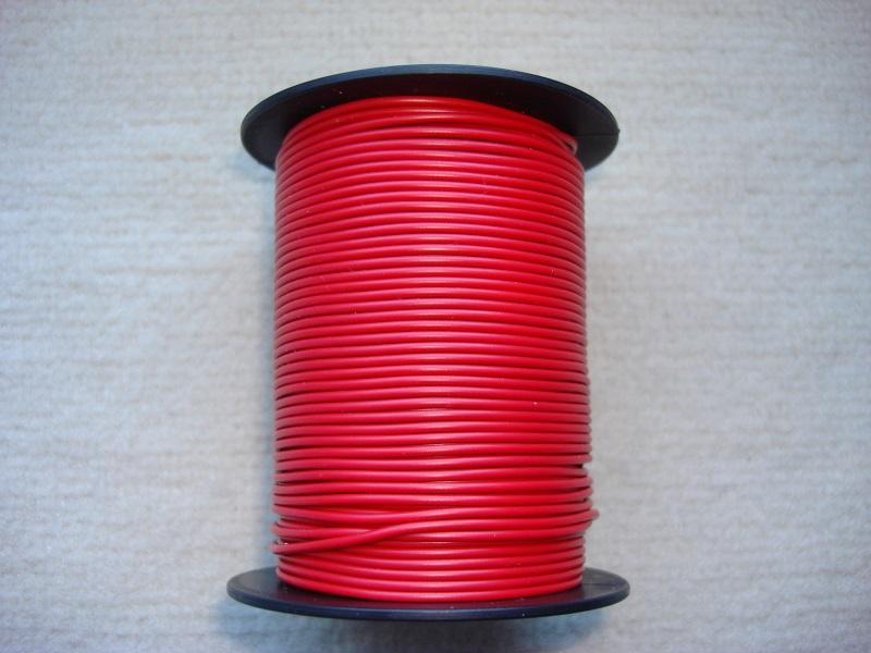 Kupferlitze 50 m - 0,25 qmm - rot