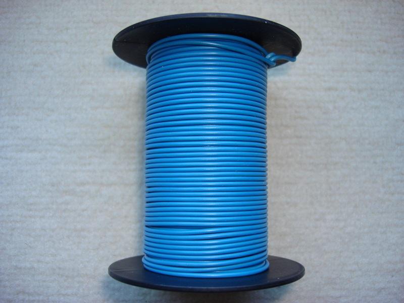 Kupferlitze 25 m - blau - 0,25 qmm
