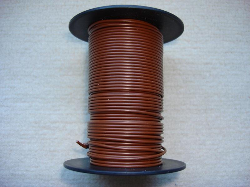 Kupferlitze 25 m - braun - 0,25 qmm