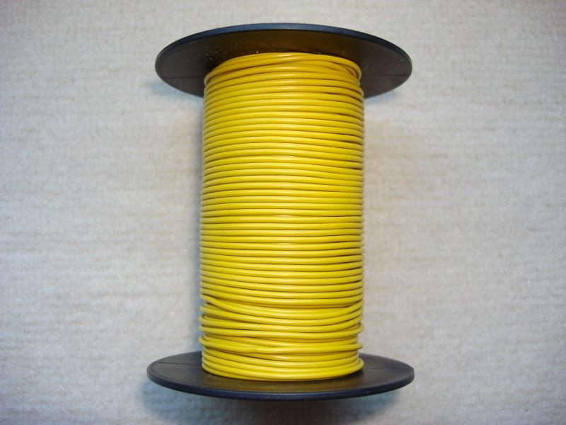 Kupferlitze 25 m - gelb - 0,25 qmm