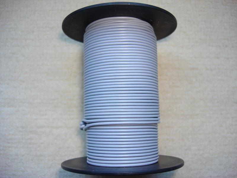 Kupferlitze 25 m - grau - 0,25 qmm