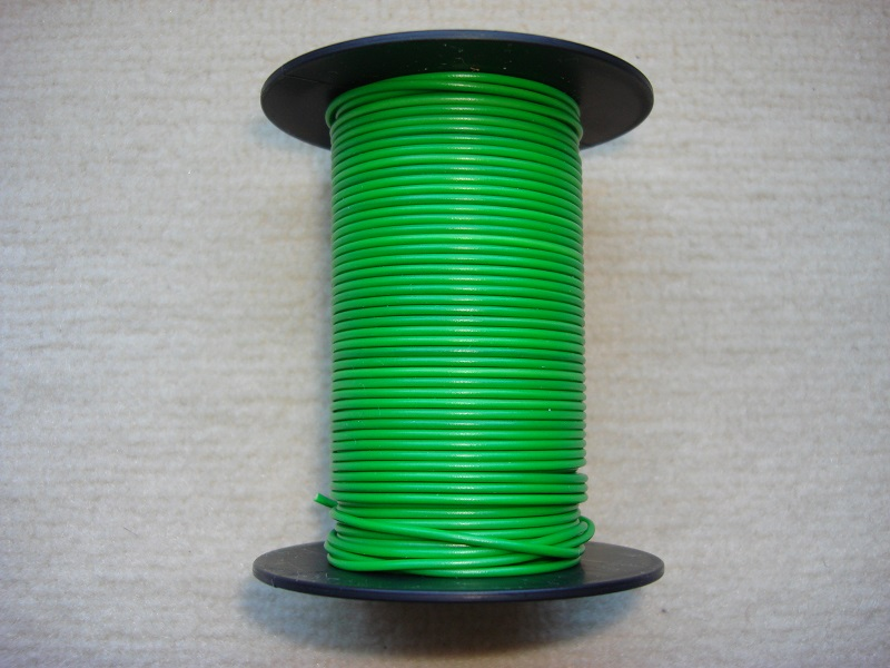 Kupferlitze 25 m - grün - 0,25 qmm