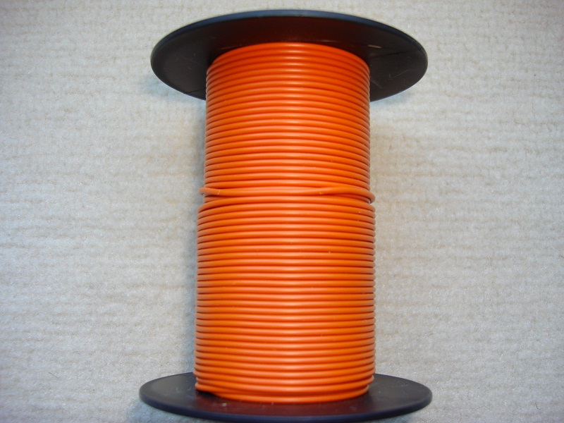 Kupferlitze 25 m - orange - 0,25 qmm