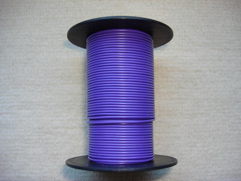 Kupferlitze 25 m - violett - 0,25 qmm