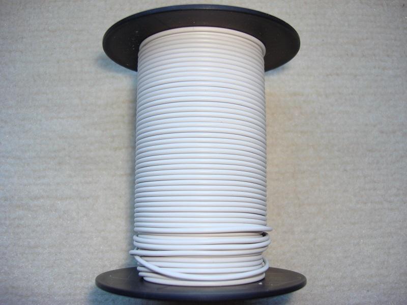 Kupferlitze 25 m - weiss - 0,25 qmm