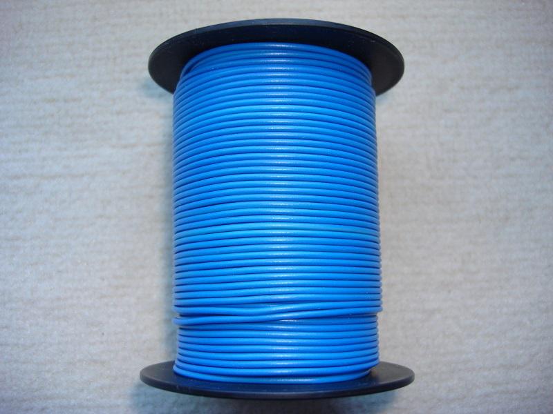 Kupferlitze 50 m - 0,25 qmm - blau