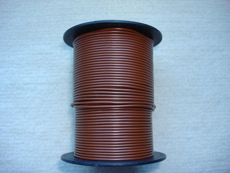 Kupferlitze 50 m - 0,25 qmm - braun