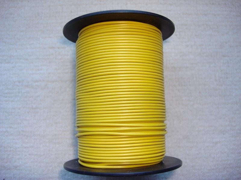 Kupferlitze 50 m - 0,25 qmm - gelb