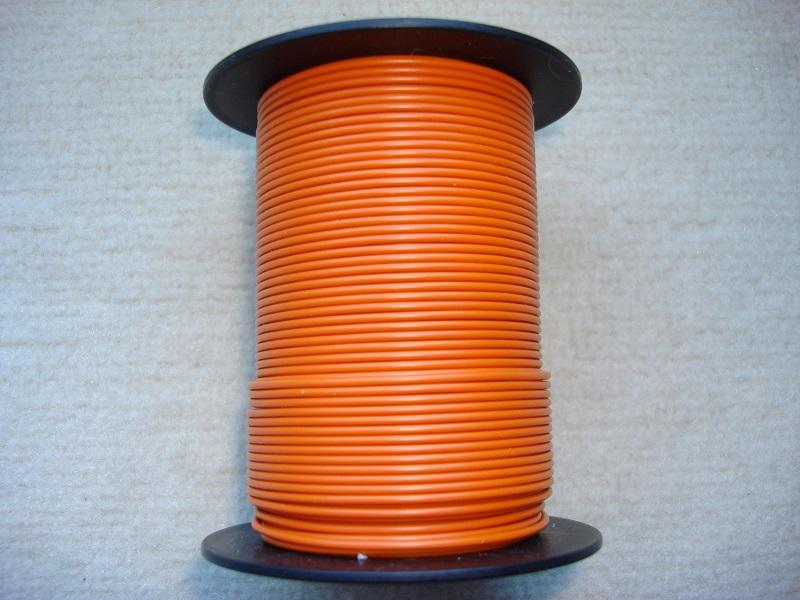 Kupferlitze 50 m - 0,25 qmm - orange