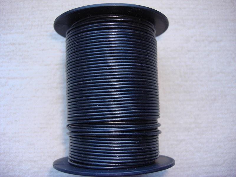 Kupferlitze 50 m - 0,25 qmm - schwarz