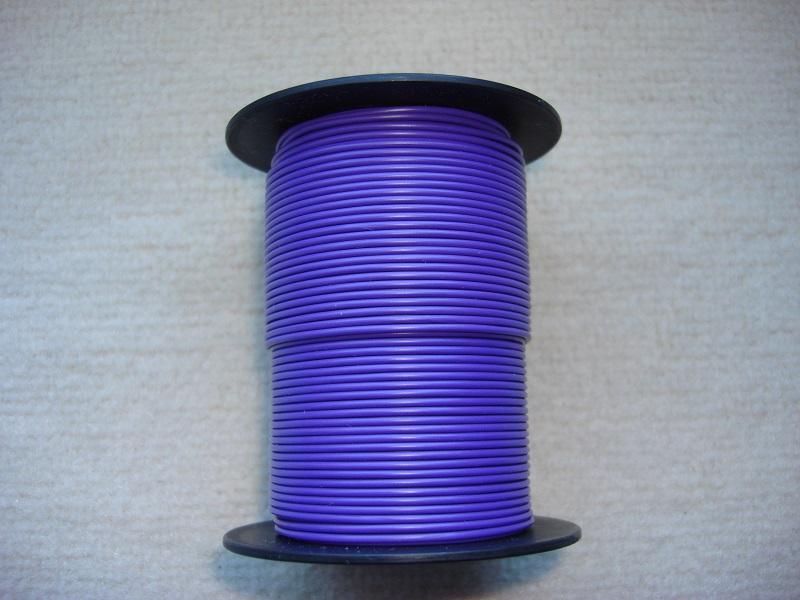 Kupferlitze 50 m - 0,25 qmm - violett