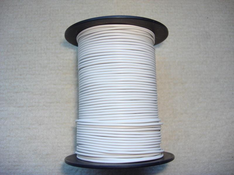 Kupferlitze 50 m - 0,25 qmm - weiss