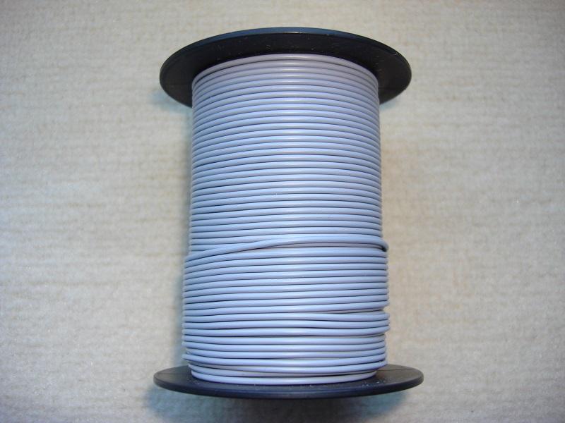 Kupferlitze 50 m - 0,25 qmm - grau