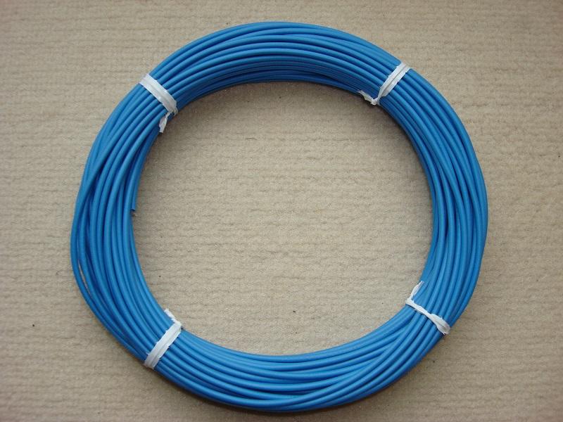 Kupferlitze 20 m - blau - 0,5 qmm