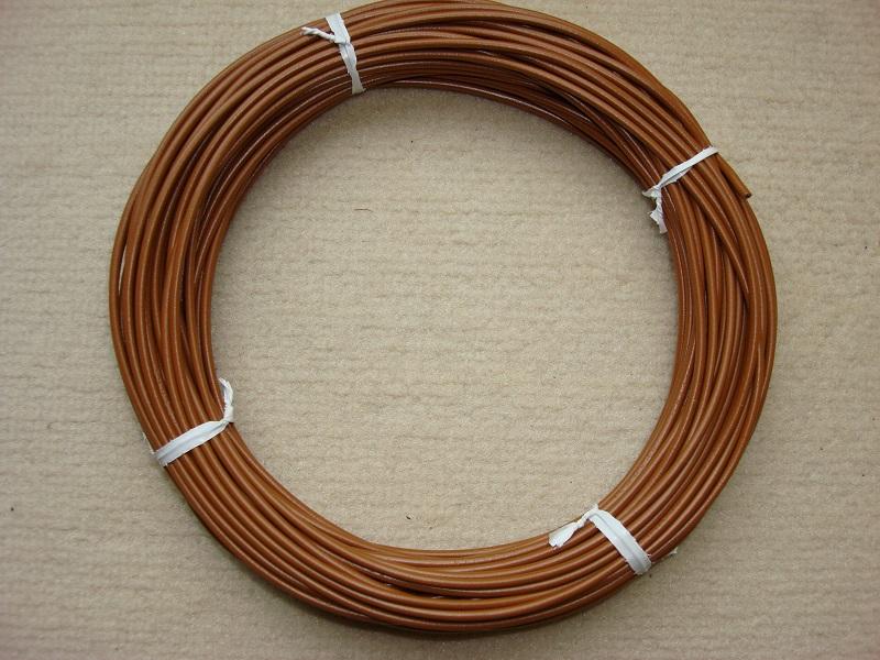Kupferlitze 20 m - braun - 0,5 qmm