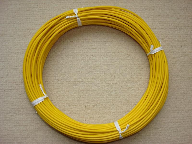 Kupferlitze 20 m - gelb - 0,5 qmm