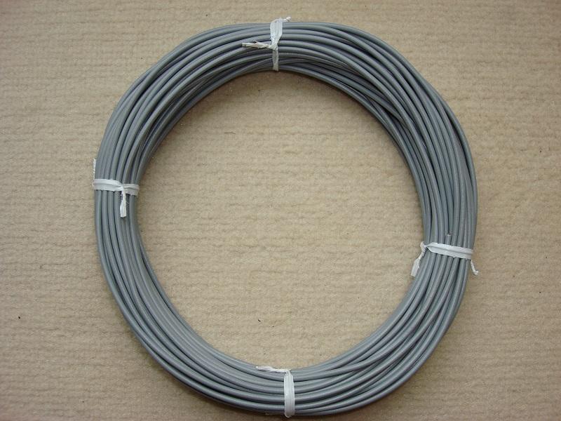 Kupferlitze 20 m - grau - 0,5 qmm