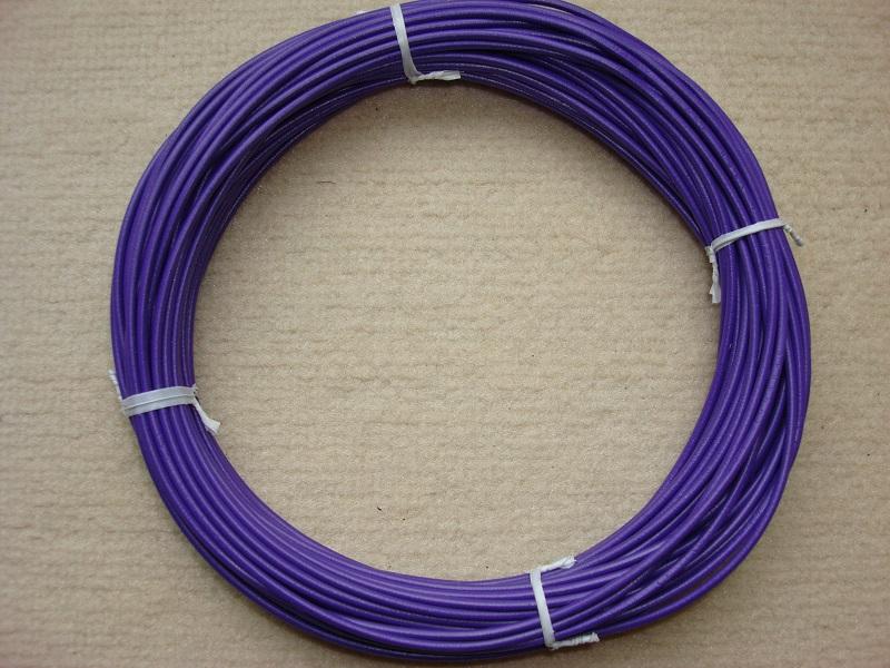 Kupferlitze 20 m - violett - 0,5 qmm