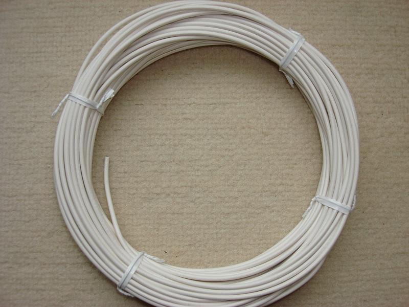 Kupferlitze 20 m - weiss - 0,5 qmm