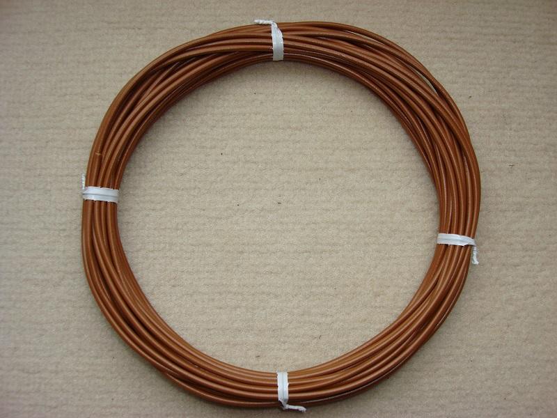 Kupferlitze braun - 10 m - 0,5 qmm