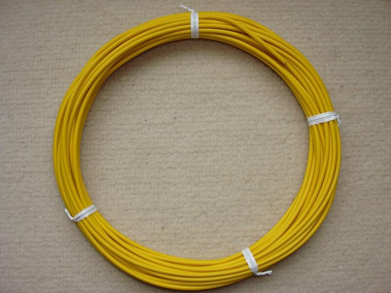Kupferlitze gelb - 10 m - 0,5 qmm