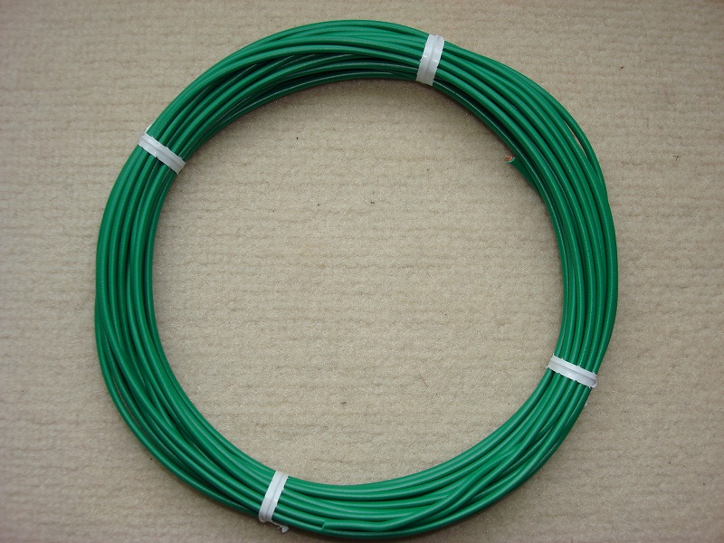 Kupferlitze grün - 10 m - 0,5 qmm