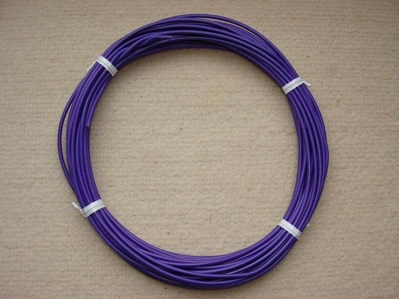 Kupferlitze violett - 10 m - 0,5 qmm
