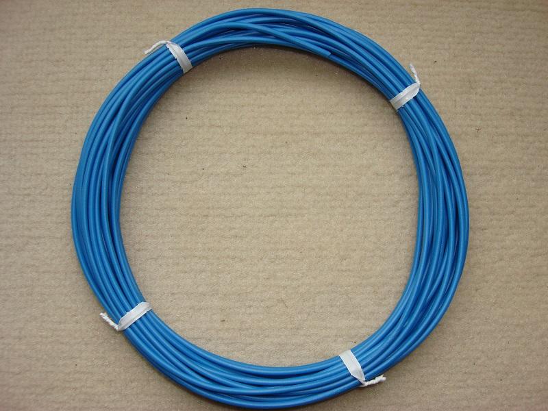Kupferlitze blau - 10 m - 0,5 qmm