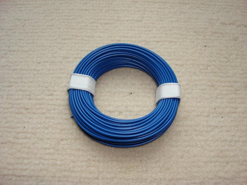 10 m Kupferlitze - 0,14 qmm x 1,0 mm  - blau