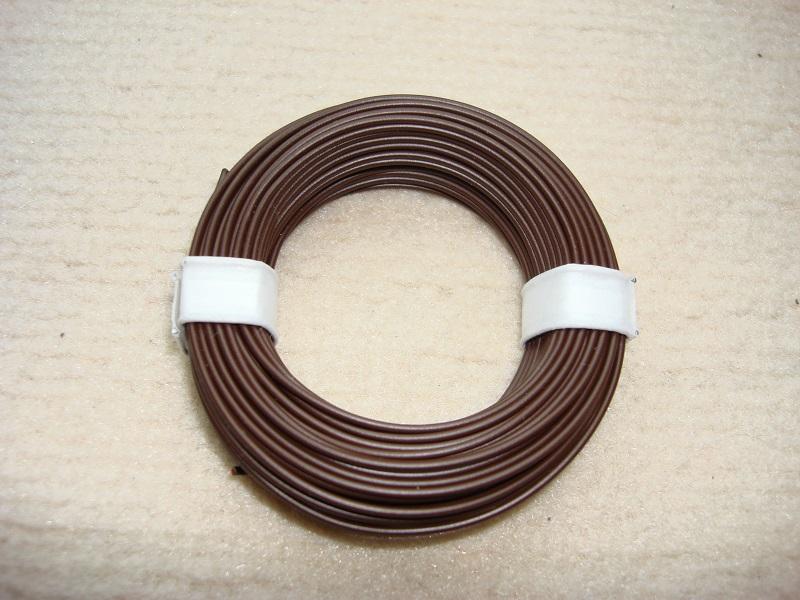 10 m Kupferlitze - 0,14 qmm x 1,0 mm - dunkelbraun