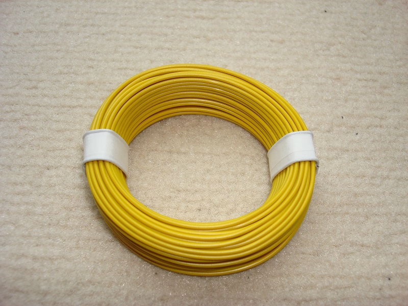 10 m Kupferlitze - 0,14 qmm - x 1,0 mm - gelb
