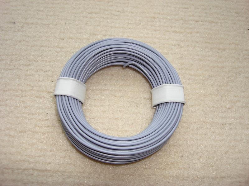 10 m Kupferlitze - 0,14 qmm - x 1,0 mm - grau
