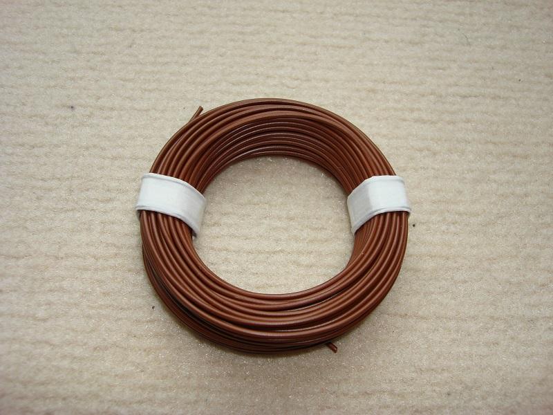 10 m Kupferlitze - 0,14 qmm  x 1,0 mm - hellbraun
