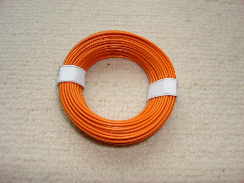 10 m Kupferlitze - 0,14 qmm  x 1,0 mm  - orange