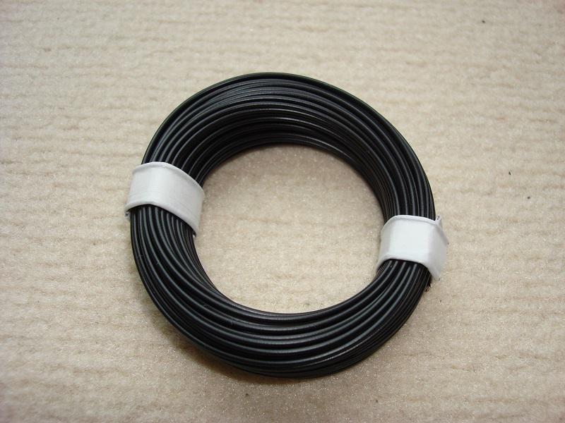 10 m Kupferlitze - 0,14 qmm x 1,0 mm - schwarz