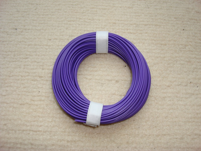 10 m Kupferlitze - 0,14 qmm x 1,0 mm - violett