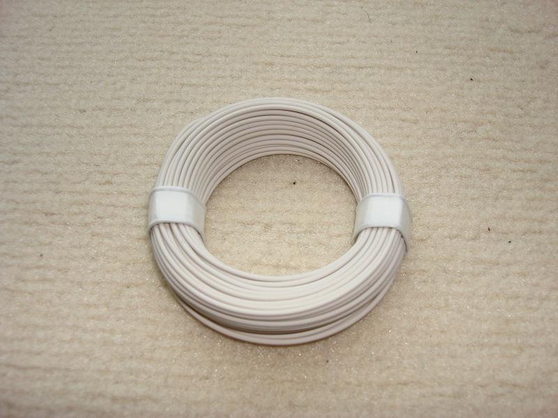 10 m Kupferlitze - 0,14 qmm x 1,0 mm - weiss