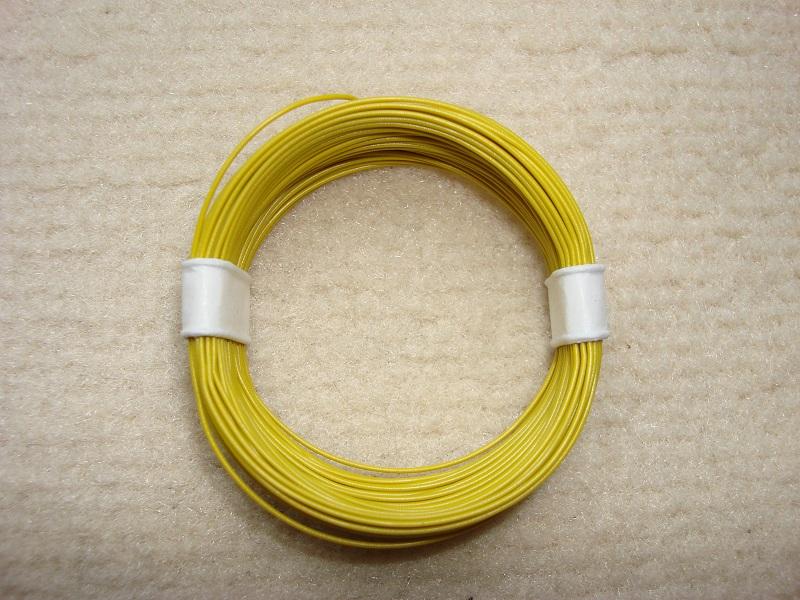 10 m Decoderlitze - gelb - 0,04 qmm