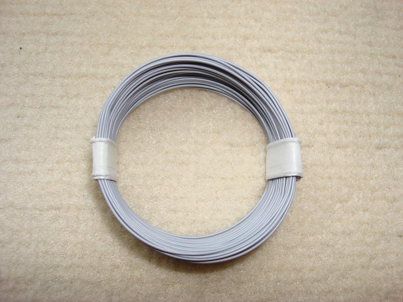 10 m Decoderlitze - grau - 0,04 qmm