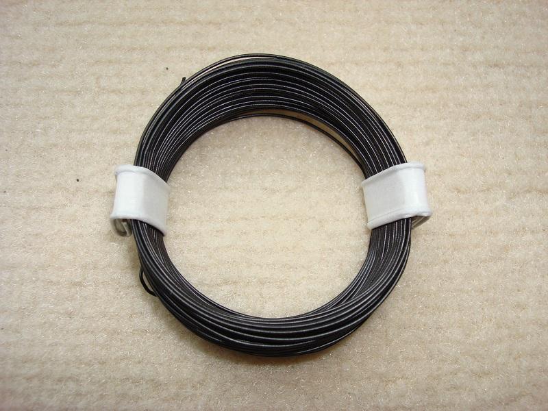 10 m Decoderlitze - schwarz - 0,04 qmm