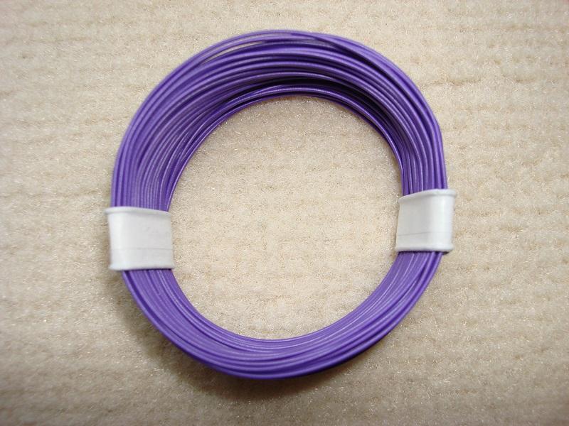 10 m Decoderlitze - violett - 0,04 qmm