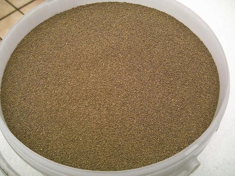 1,0 kg Gleisschotter Spur H0 erdbraun 0,5 bis 1,0 mm Koernung