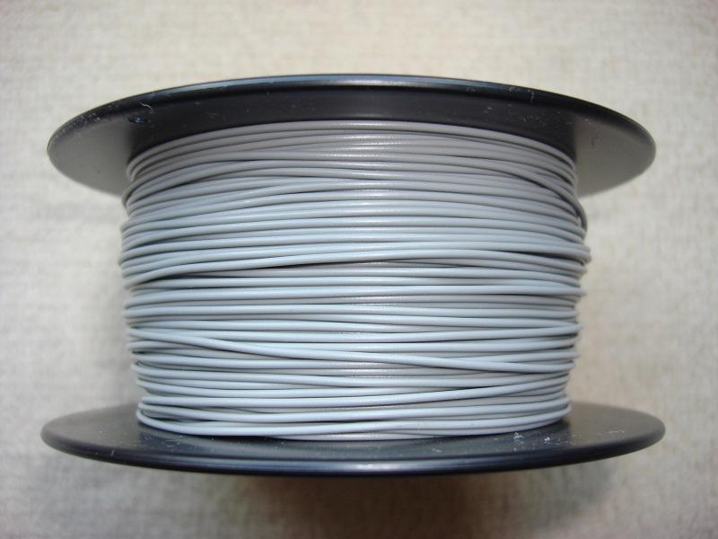 100 m Kupferlitze 0,14 qmm x 1,0 mm - grau