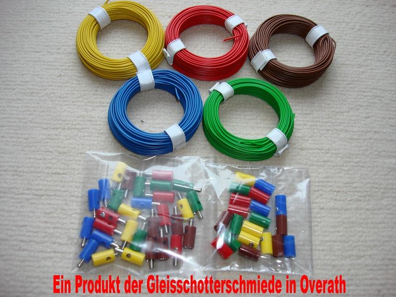 Kabel-Set mit Stecker und Muffen z.B. fuer Maerklin