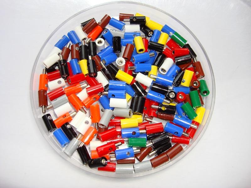 100 Stueck Querlochstecker oder Kupplungen - Freie Farbwahl