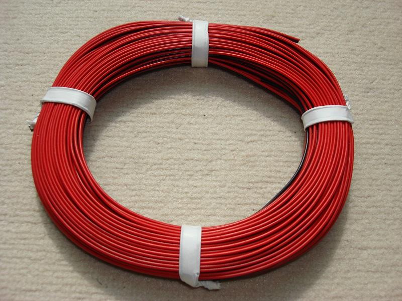 25 m Zwillingslitze 0,25mm² rot/schwarz