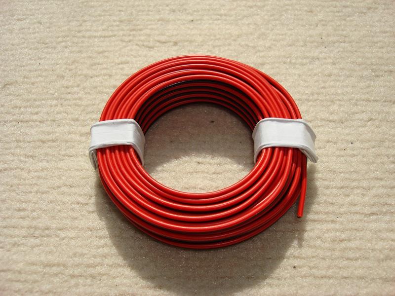 5 m Zwillingslitze 0,25mm² rot/schwarz