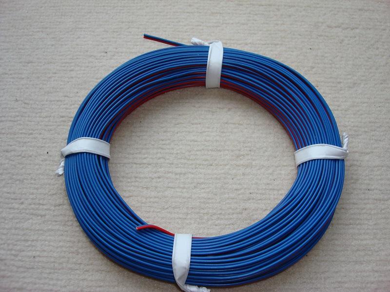 25 m Zwillingslitze 0,25 mm² rot/blau