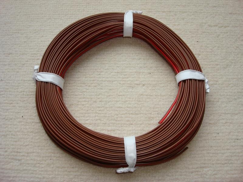 25 m Zwillingslitze 0,25mm² rot/braun