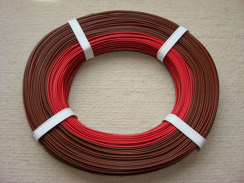 50 m Zwillingslitze rot/braun